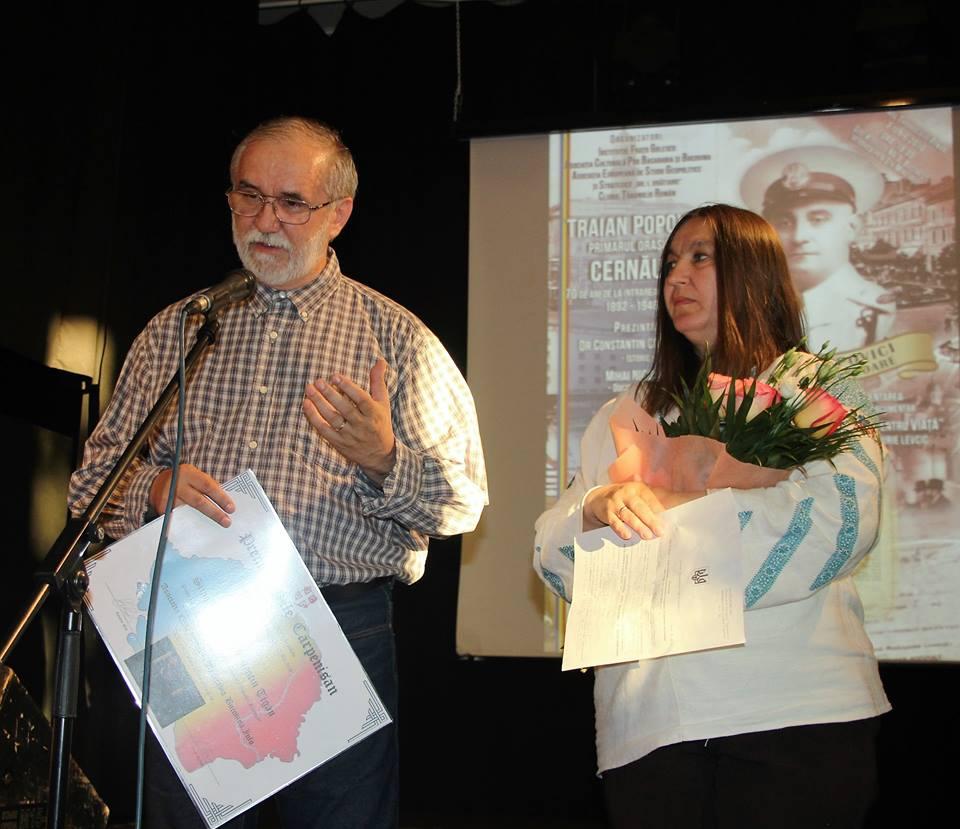 Valentin Tigau si Simona Lazar cu Premiul Mile Carpenisan 2016 Civic Media Basarabia Bucovina Info